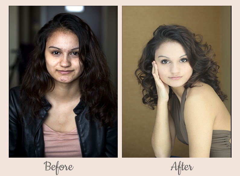 headshot portrait photography transformation hair makeup